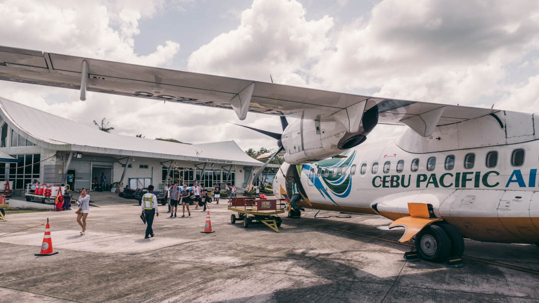 The small airport on Siargao