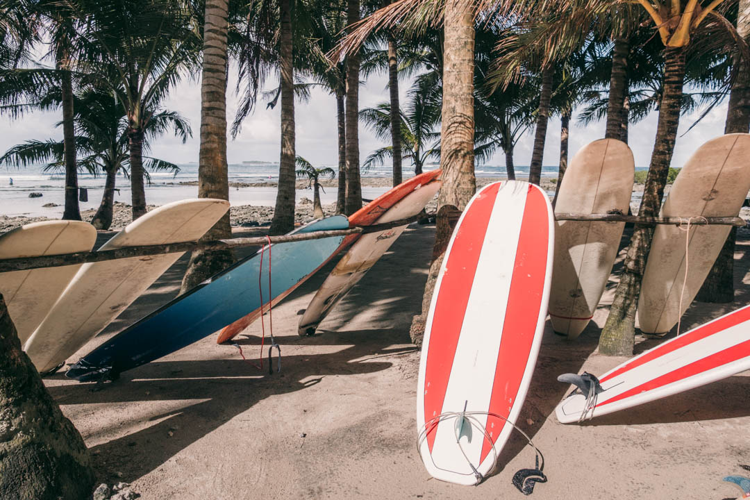 Surfboards at Cloud 9