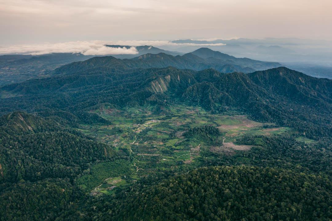 Sibayak adjacent landscape