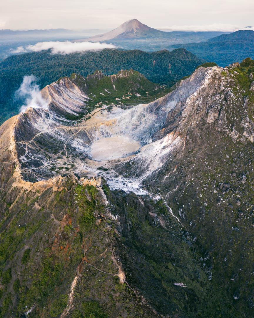 Mount Sibayak view