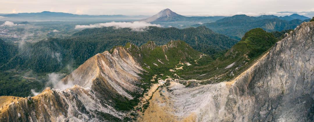 Panoramic view of Sibayak