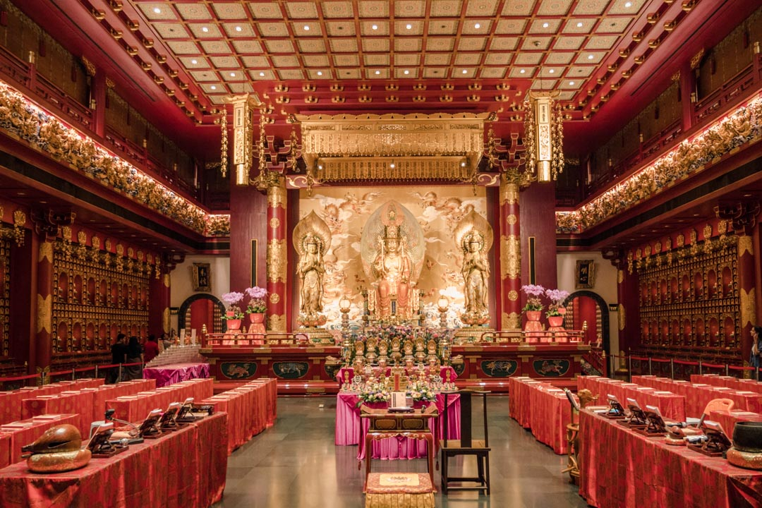 Inside the Buddha Tooth Relic Temple and Museum
