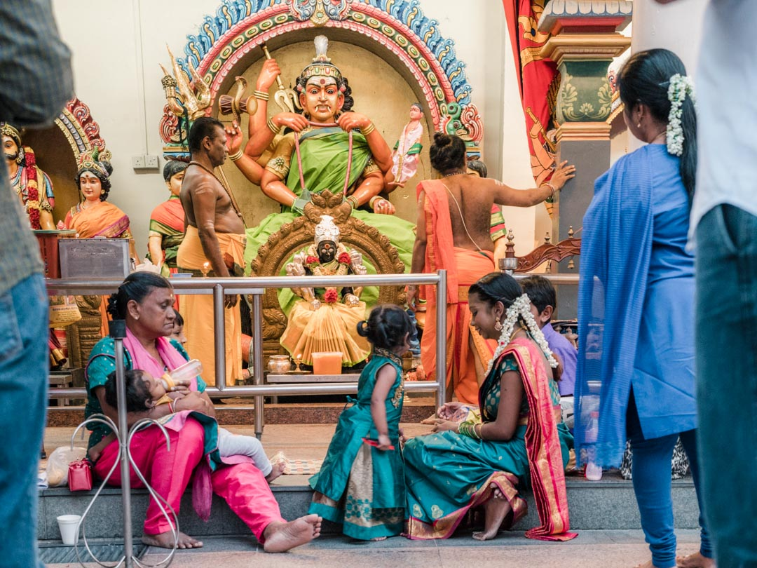 Sri Mariamman Temple praying