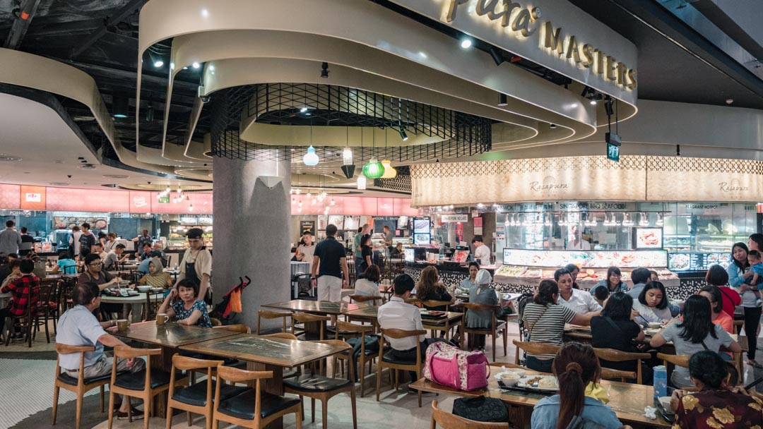 Food hall inside The Shoppes at Marina Bay Sands
