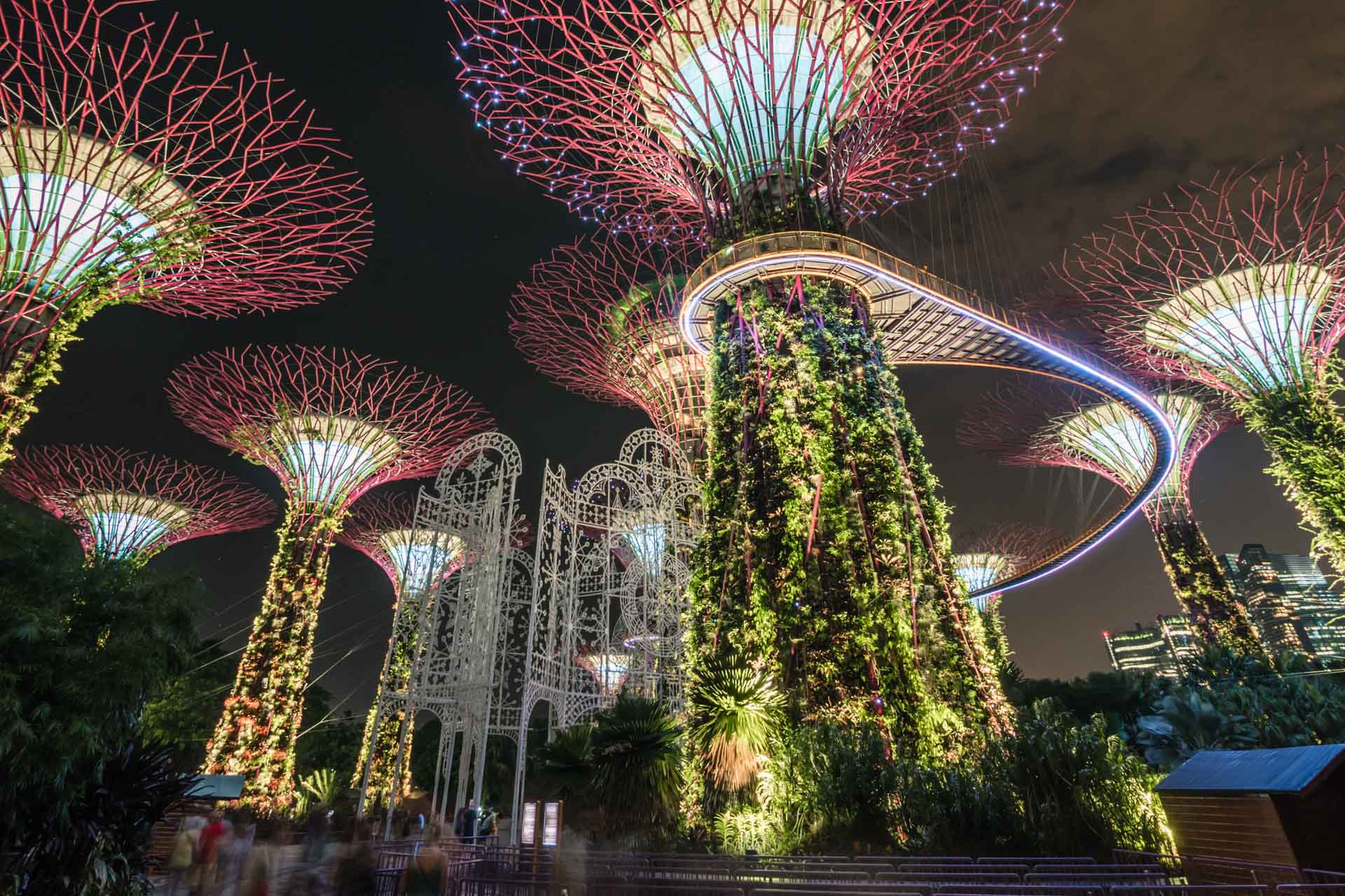 Gardens by the Bay: Luminous Supertrees From the Future