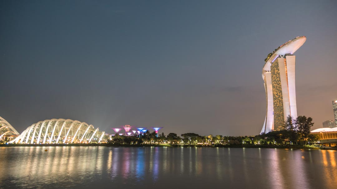 Gardens by the Bay and the Marina Bay Sands
