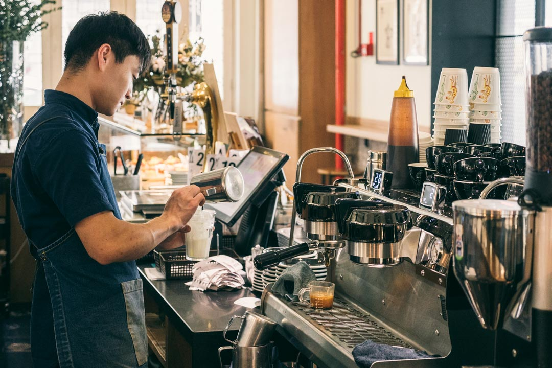 Barista working