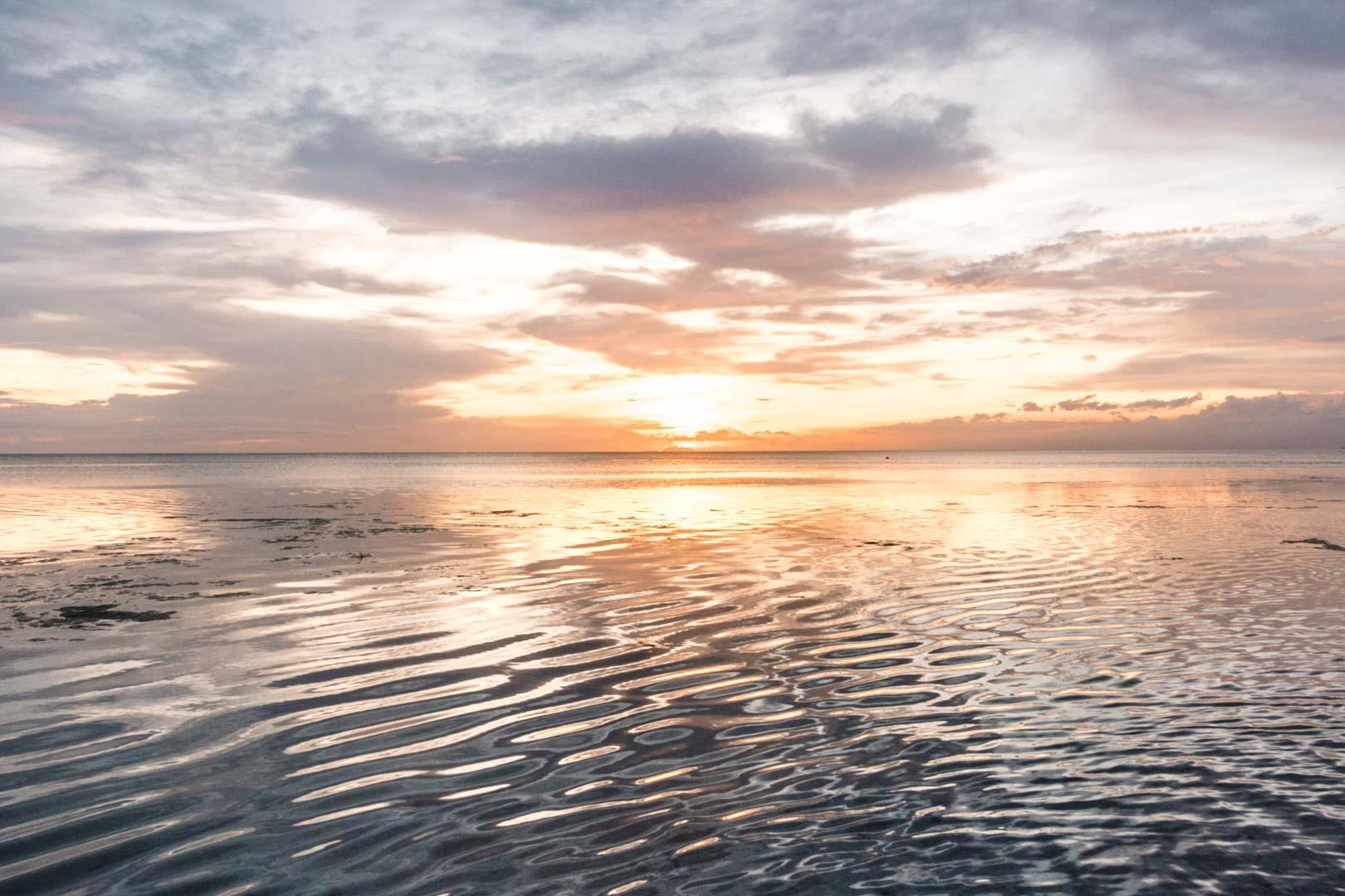 Sunset at Solangon Beach