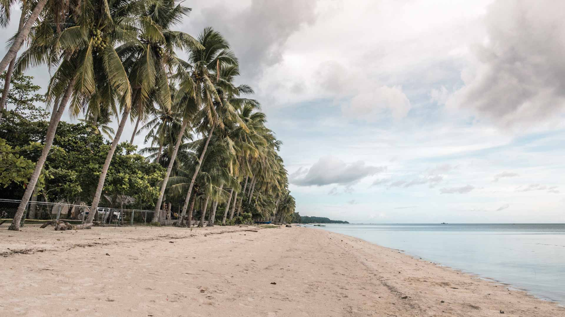 Beach in front of Glamping Siquijor
