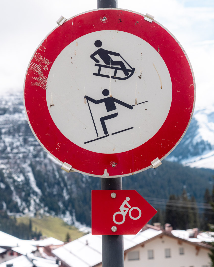 Mountainbike, skiing and sledding