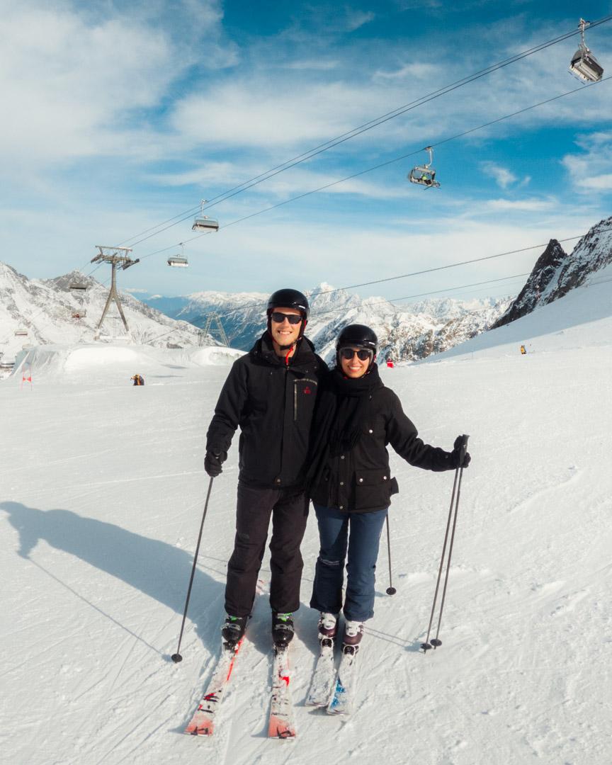 Skiing in Stubai