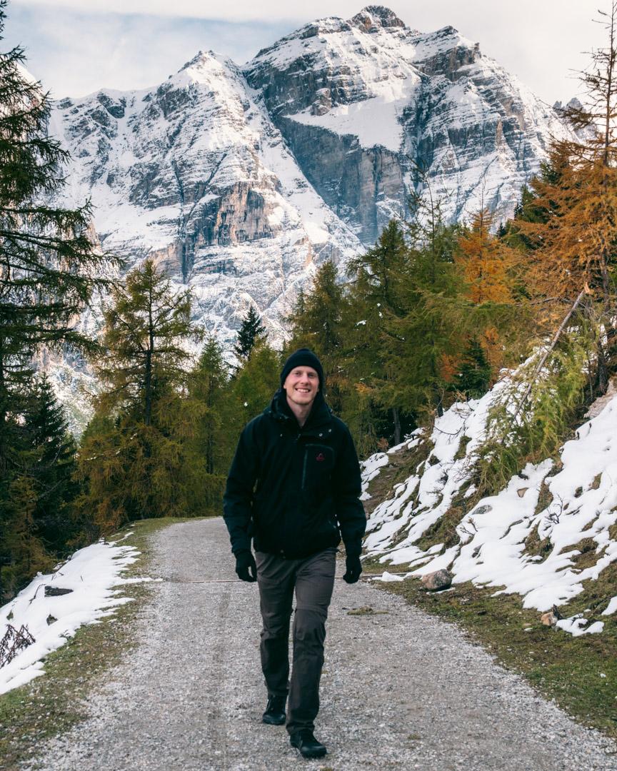 Alex hiking Stubai