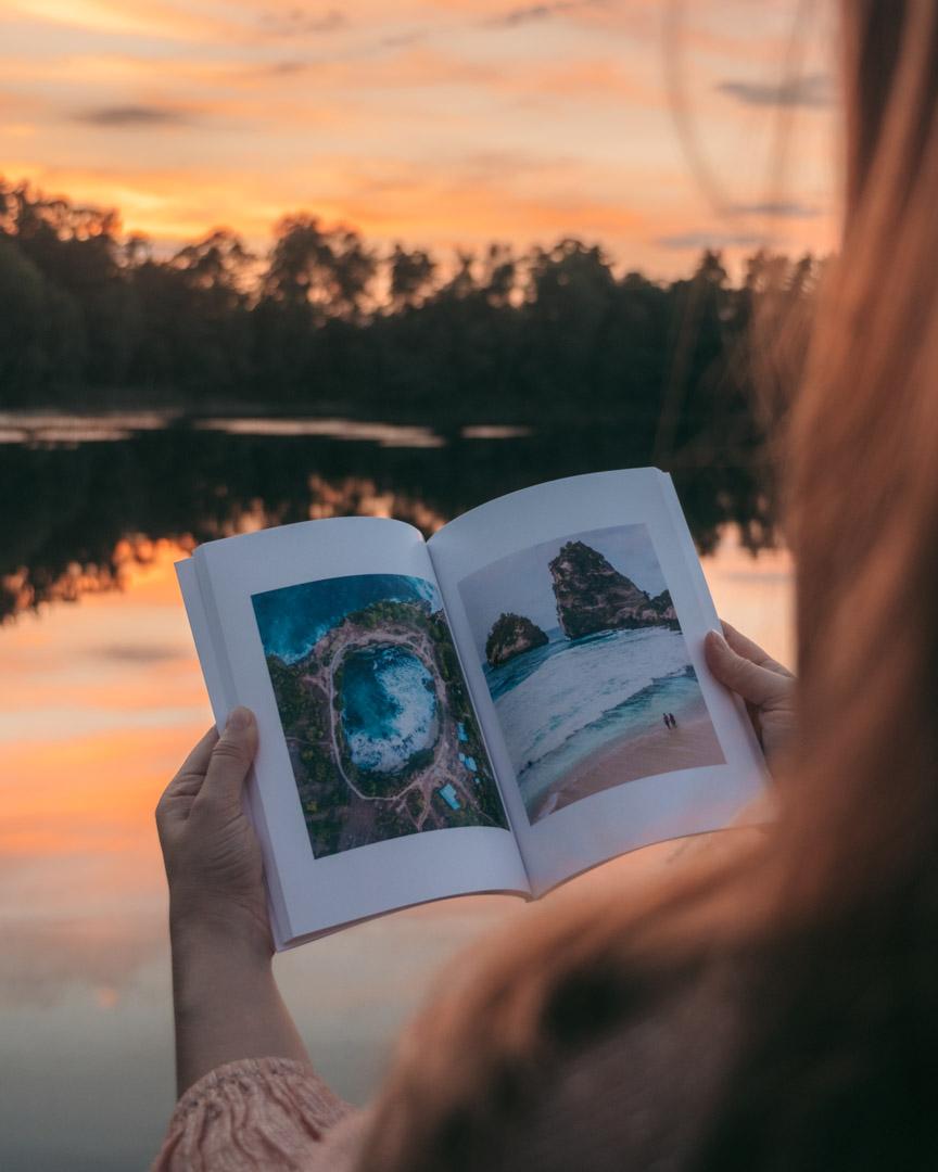 Open photo book