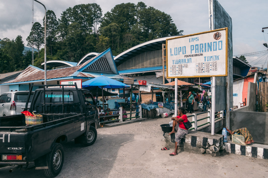 The harbour at Parapat. A usual stop on a Sumatra itinerary