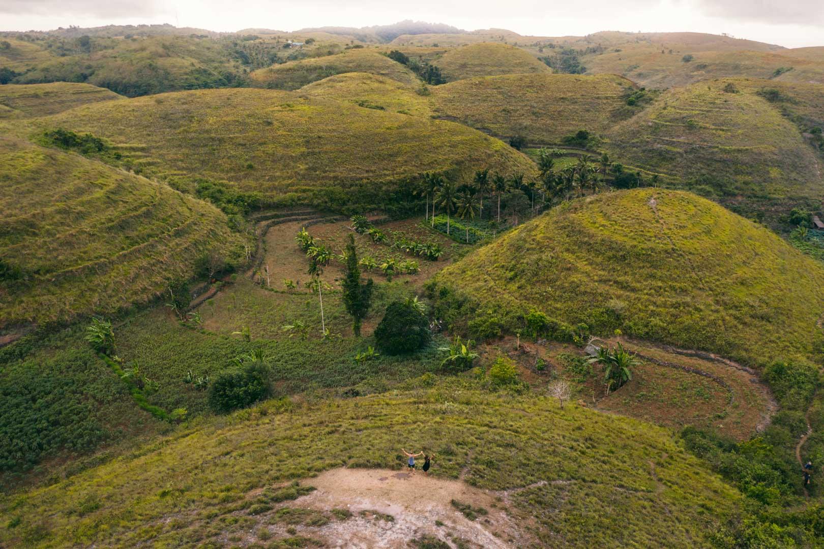 Teletubbies hills drone shot