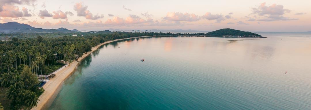 Lipa Noi Beach drone