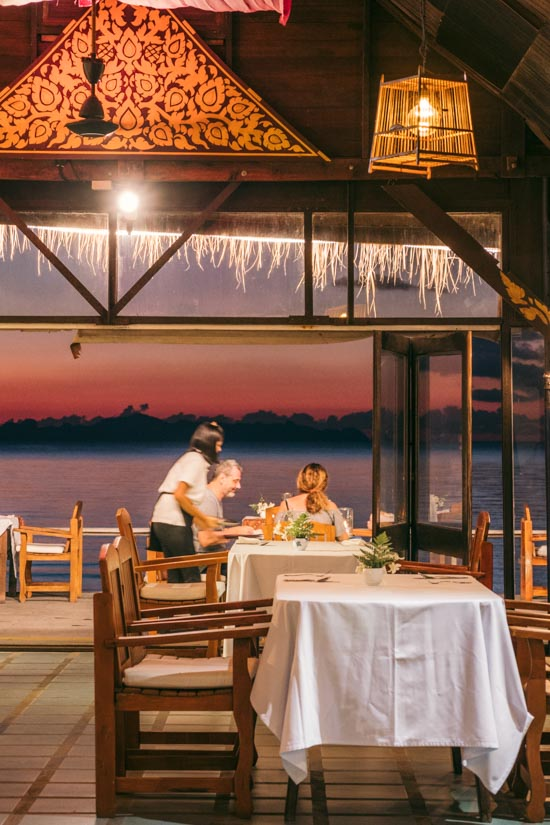 Waiter at Lipa Lodge