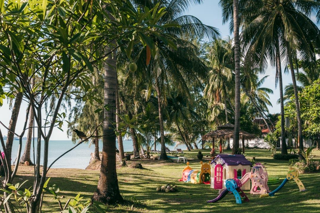Lipa Lodge's family-friendly garden