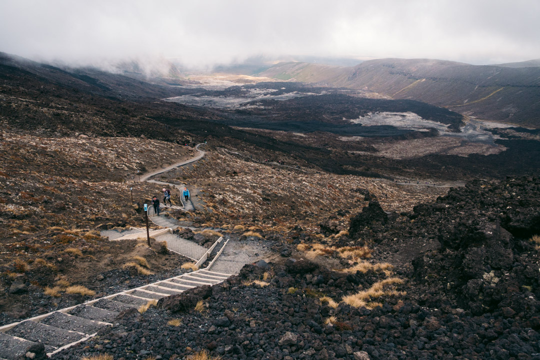 Stair in Tongariro hike