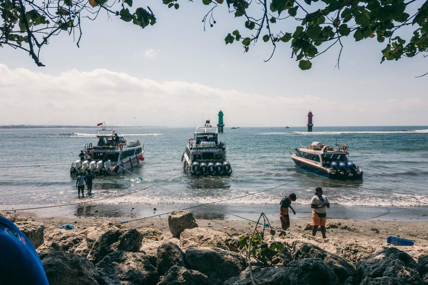 Boats Sanur to Penida island