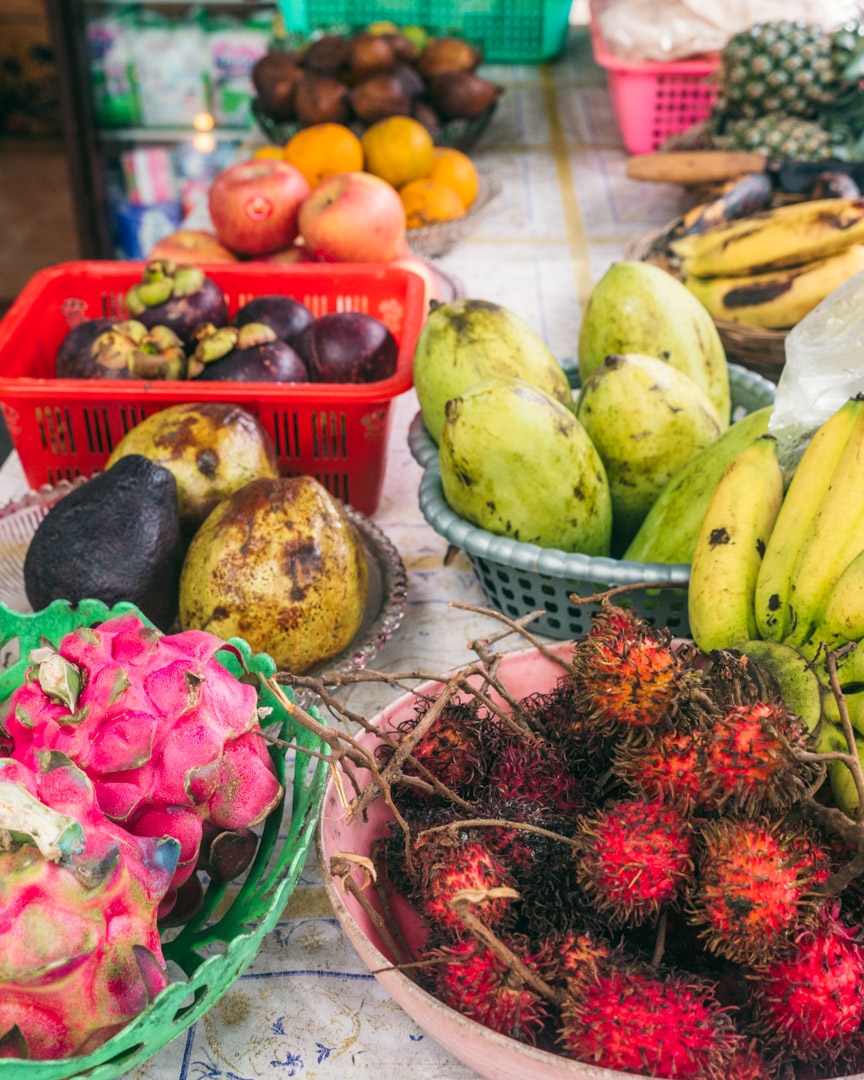 Fresh fruit on the streets of Gili Air