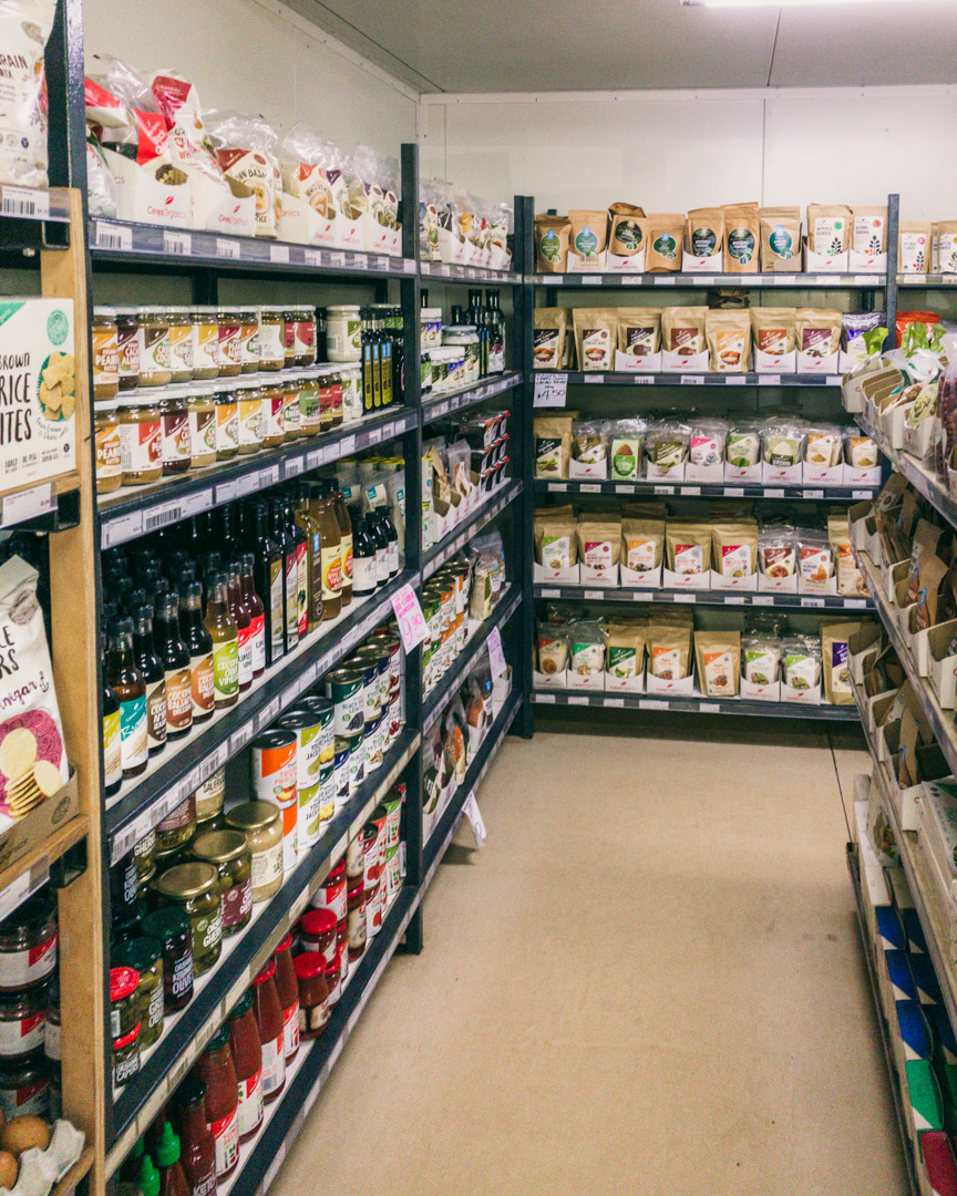 The organic section at Wigmore's