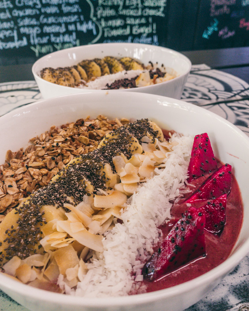 Organic Açaí Bowl and a Bonita Bowl (without protein powder)
