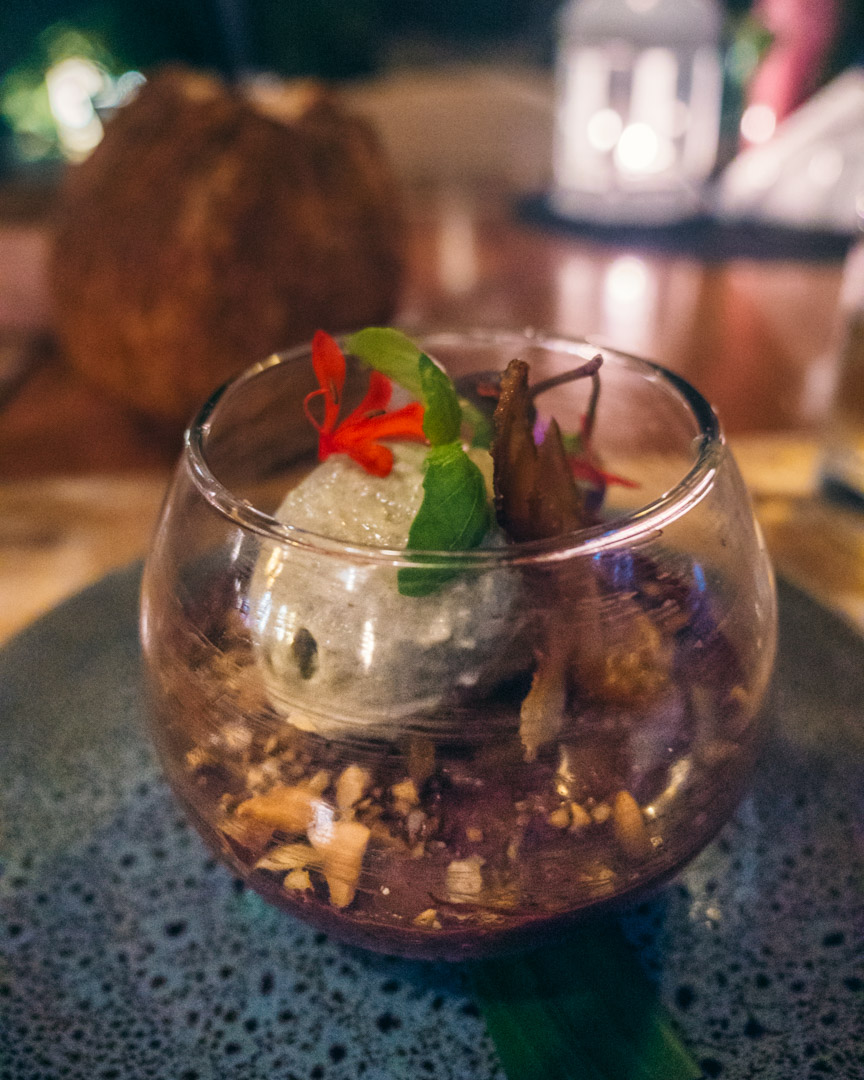 Vegan chocolate mousse at Nautilus Restaurant