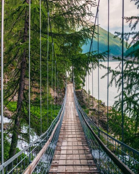Suspension bridge Lago di Vernago