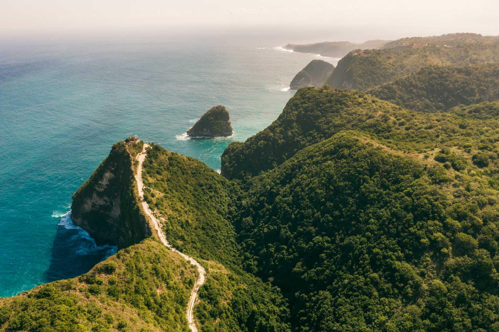 Banah Cliffs viewpoint from the air