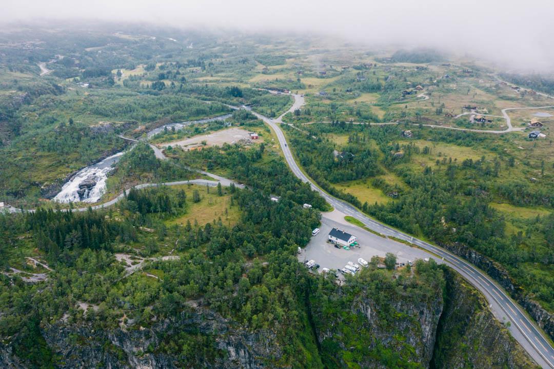 The parking area at Fossatromma