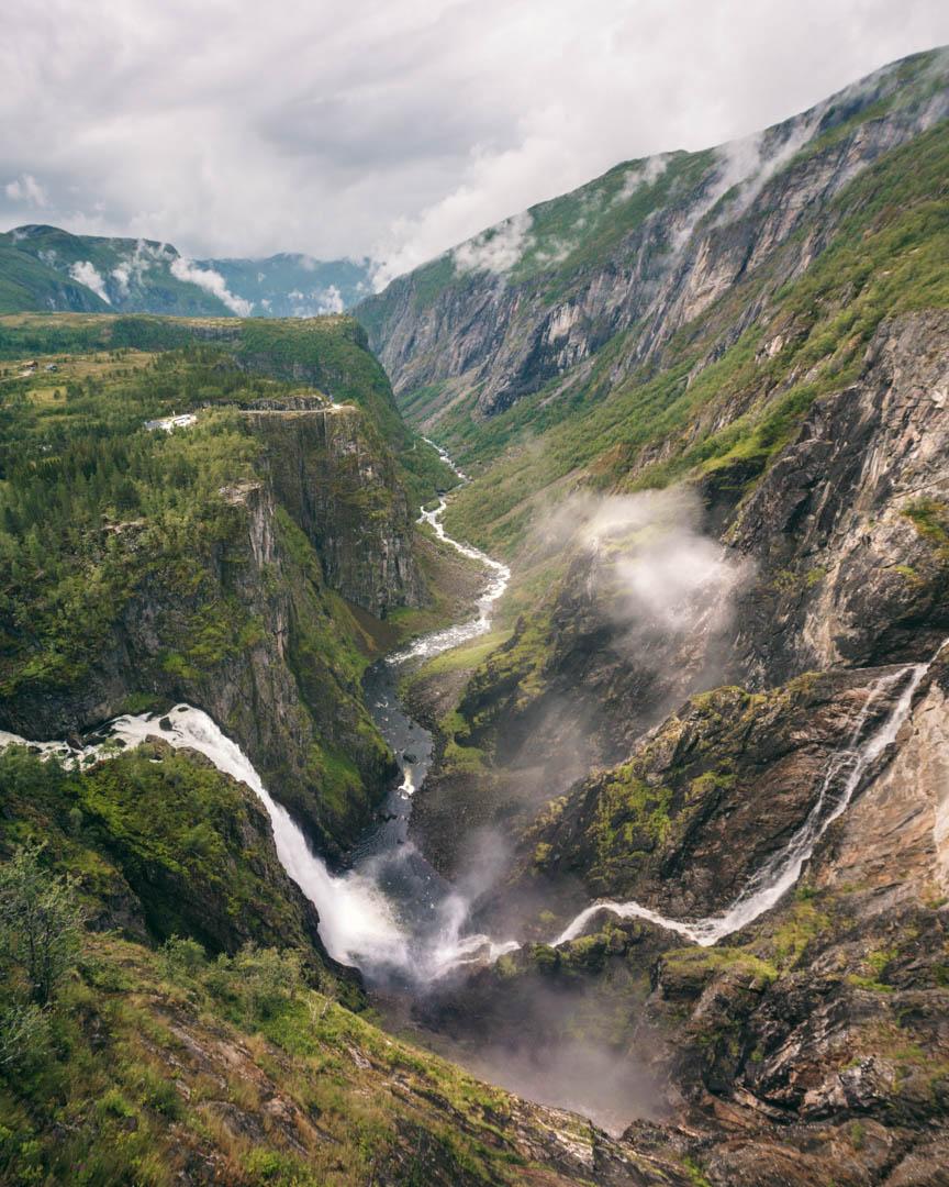 Vøringsfossen panoramic view