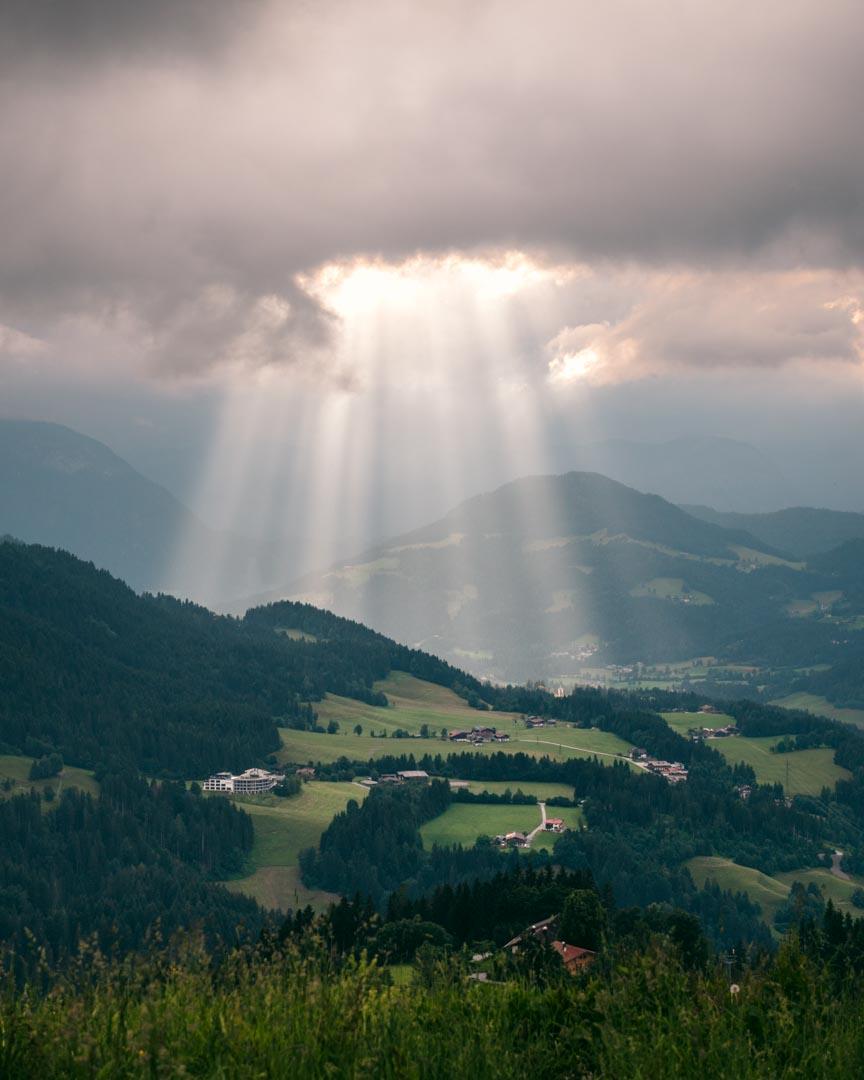 Sun through thick clouds