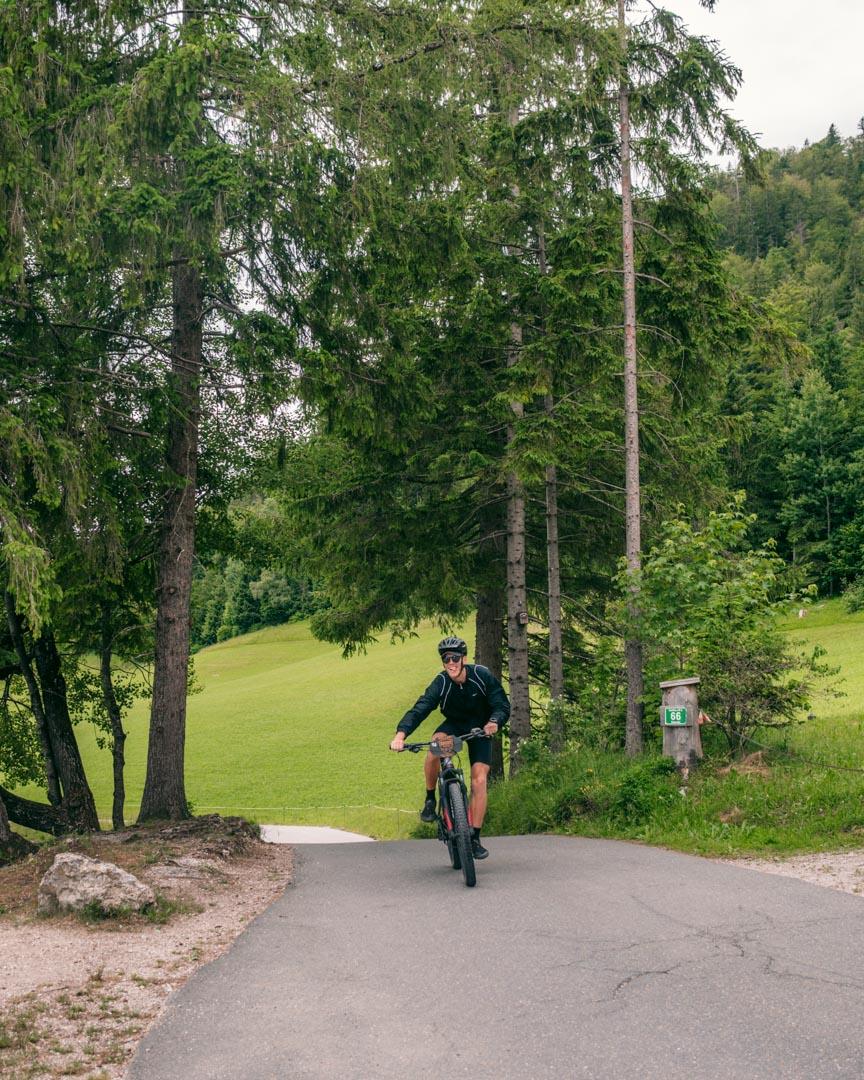 Alex mountain biking