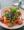 A falafel salad with lots of greens