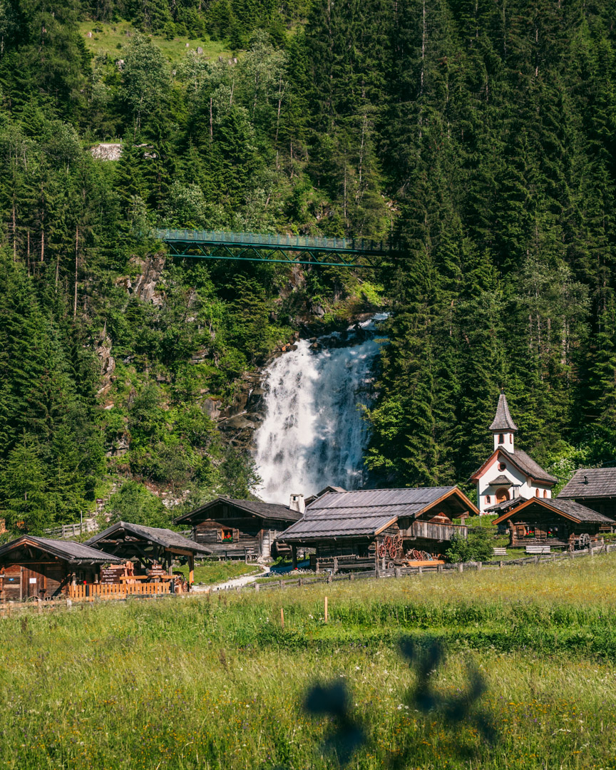 Visiting the Serles Waterfall and the Mill Village in Gschnitz