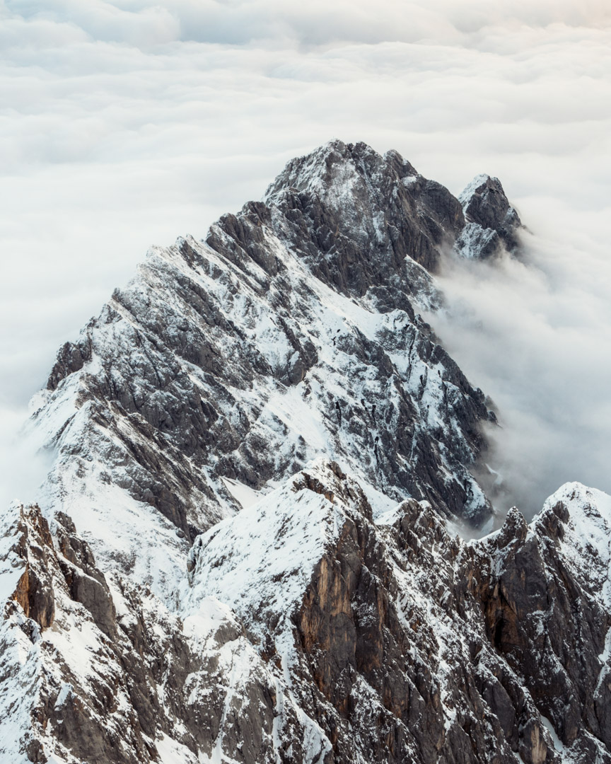 Zugspitze views in morning